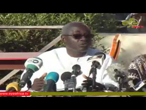 Gambia opposition coalition press conference on the eve of Barrow's inauguration
