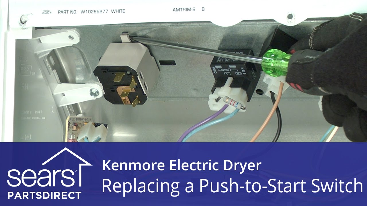 How to Replace a Kenmore Electric Dryer Push-to-Start Switch Kenmore Series Dryer Door Switch Wiring Diagram on