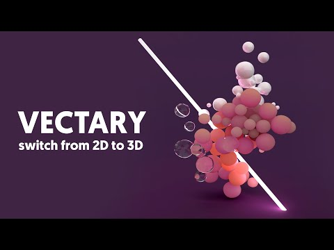 Vectary 3D design tool | Switch from 2D to 3D