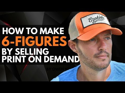 HOW TO MAKE 6 FIGURES! Selling Print on Demand Gear | Newbie Friendly