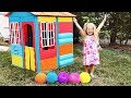 Diana plays with color balls and Finger Family song / for children with Kids Diana Show