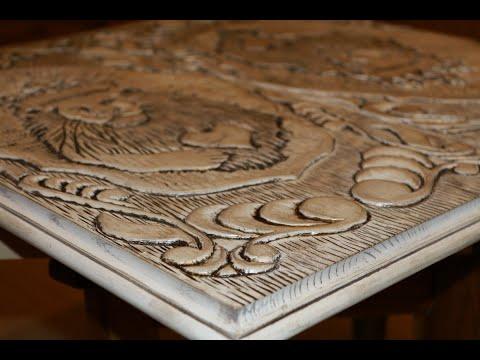 Резьба нард  ручным фрезером . (Woodcarving // Making Backgammon)