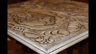 Резьба нард  ручным фрезером (Woodcarving // making backgammon)