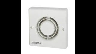 Manrose XF100T 20W Axial Bathroom Fan