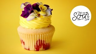 strawberry lemon lime cider cupcakes with edible flowers the scran line