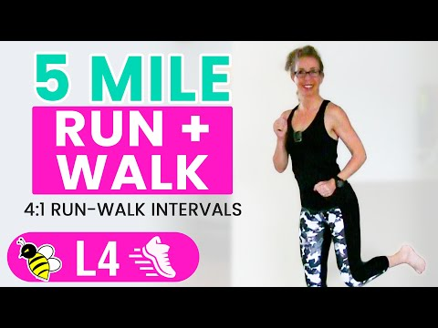 5 MILE Indoor RUN + WALK | One Hour (500 Calories) RUNNING +
