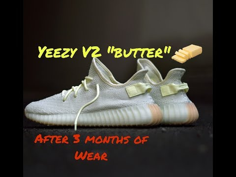 """Yeezy boost 350 V2 """"butter"""" After 3 months of Wear"""