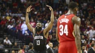 Anthony Davis Dunks on Capela! Rockets Franchise Record 59 W! 2017-18 Season
