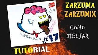 TUTORIAL COMO DIBUJAR A BOO ZOMBIE FACIL Y RAPIDO # 17