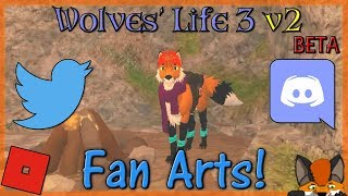 Roblox - Wolves' Life 3 v2 BETA - Fan Arts! #23 - HD