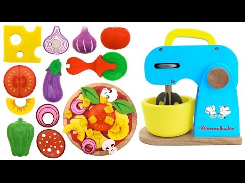 Thumbnail: Toy Velcro Cutting Pizza Playset Play Doh Toy Surprise Learn Fruits & Vegetables English Names