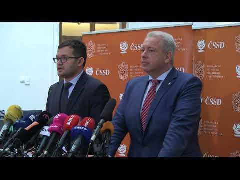 Záznam tiskové konference: ČSSD důvěru kabinetu A. Babiše nevysloví