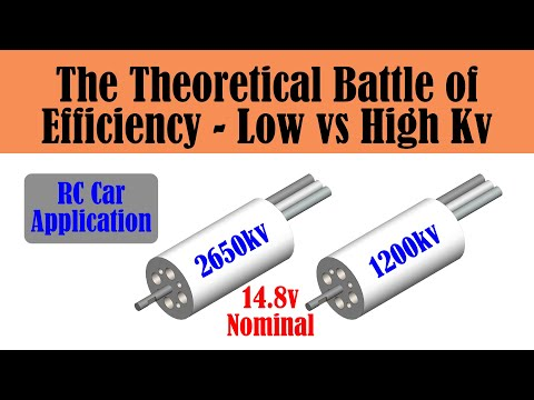 High vs Low Kv Brushless Motor Comparison - Which motor is more efficient?