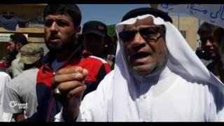 مظاهرة في مدينة جرابلس لتأييد معركة