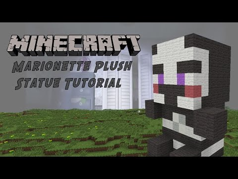 Minecraft Tutorial: Marionette Plush (Five Night's At Freddy's) Statue