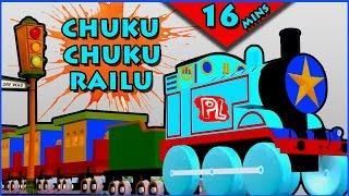 Chuku Chuku Railu Vastundi - 3D Animation Telugu Rhymes For Children - 15 mins Loop - Telugu Rhymes