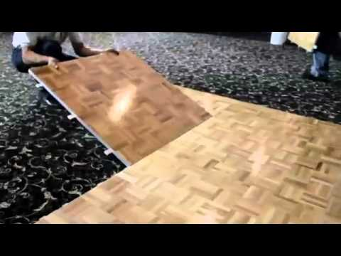 Installation Of Portable Dance Floors From Portable Floor Makers