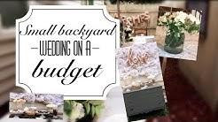 DIY back yard wedding