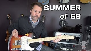 Summer of 69 by Bryan Adams Guitar Lesson
