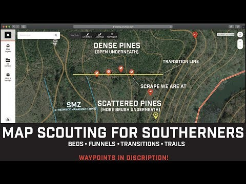Map Scouting For DEER In The SOUTH! How To Find Deer Beds, Funnels, Trails & More! PART 1