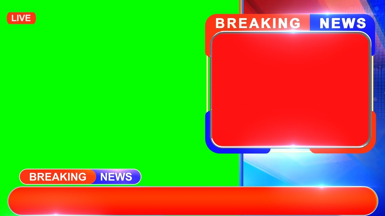 Breaking News Green Screen Modern Design | For Kinemaster - Edius - After Effects and Premiere
