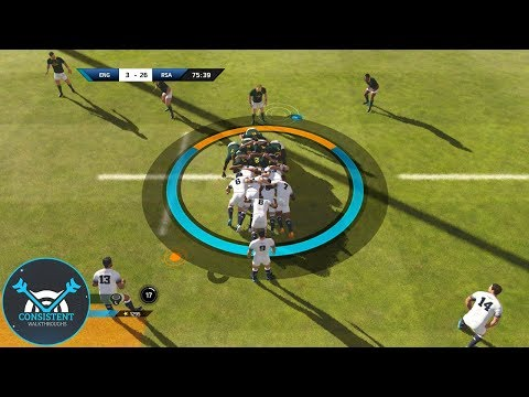 """WHAT HAPPENED THERE!? (Rugby 18 Gameplay """"England Vs. South Africa"""" Full Match! 