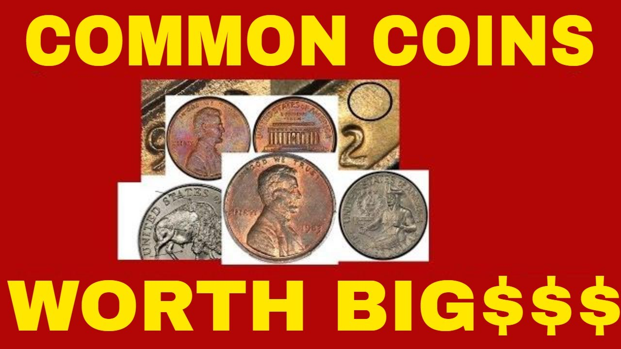 10 COMMON COINS WORTH MONEY IN YOUR POCKET CHANGE! VALUABLE COINS TO LOOK  FOR!