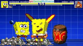 Golems And SpongeBob SquarePants VS Donkey Kong In A MUGEN Match / Battle / Fight
