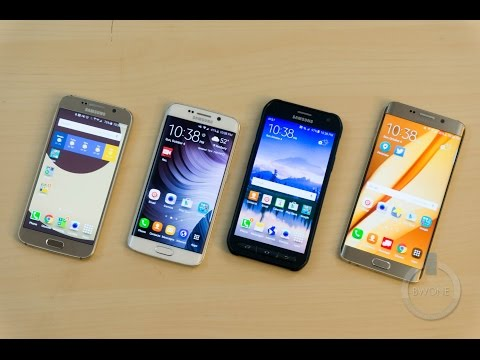 Galaxy S6 vs. S6 Edge vs. S6 Active vs. S6 Edge Plus Review
