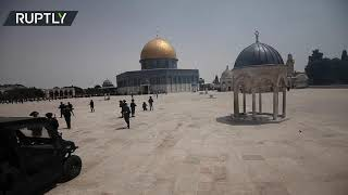 Clashes break out at Al-Aqsa mosque just hours after truce agreed