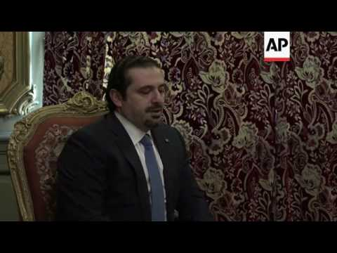 Lavrov meets former Lebanon PM Hariri