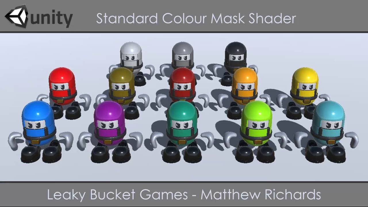 Unity 5 RGB Colour Mask Shader