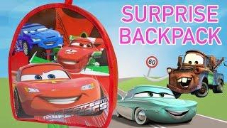 Cars 2 Surprise Backpack Mochila Cars 2 Surprise Eggs Hot Wheels Toy Videos