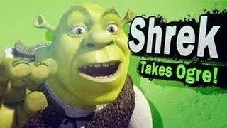 Super Smash Bros 4 Characters: Shrek Confirmed! (WII U / 3DS Gameplay) 【All HD】