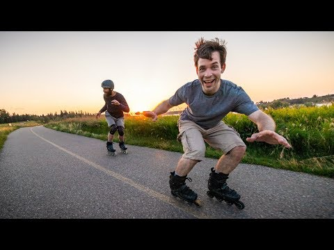 Shaun And Mike Go For A Skate - Glenmore Reservoir