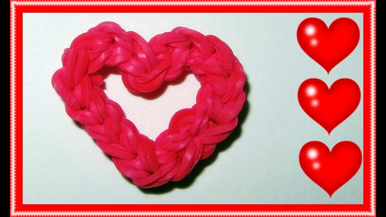 Rainbow Loom Charms Quot Open Your Heart Quot Youtube