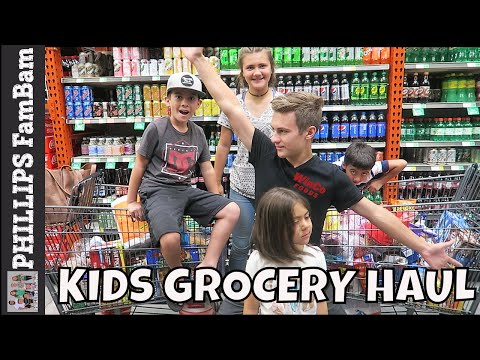 WINCO FOODS GROCERY HAUL   KIDS GROCERY HAUL EDITION   PHILLIPS FamBam Hauls