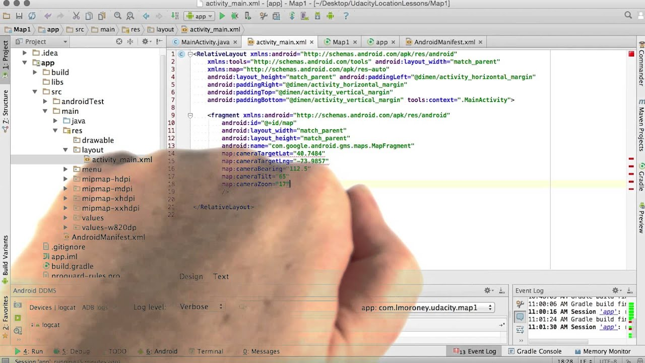 configuring the map with xml youtube