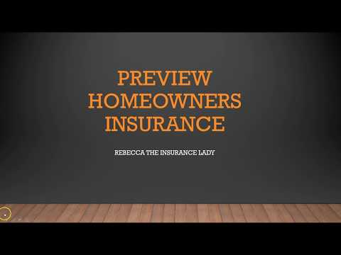 Homeowners Insurance Preview