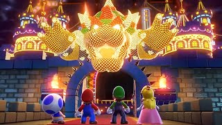 Super Mario 3D World + Bowser's Fury - All Final Castles (4 Players)
