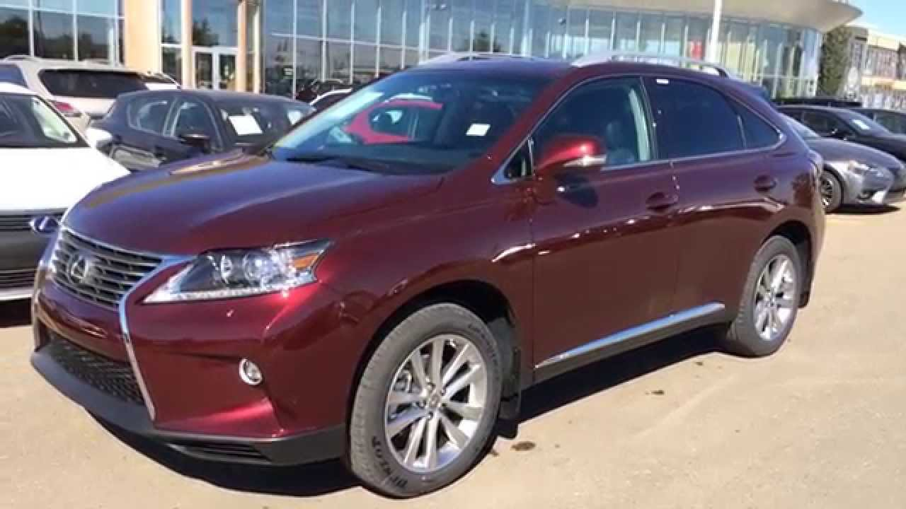 2017 Lexus Rx 350 Awd Red Claret Mica On Black Touring Package Review Downtown Edmonton Ab