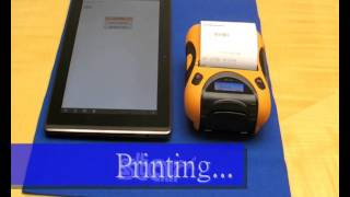 Mobile Printer for Android Tablet - STAR Micronics SM-T300DB50 Bluetooth Portable Printer