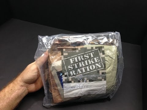 2015 First Strike Ration 24 Hour MRE Review Menu No. 4 BBQ Chicken and Mexican Beef Tacos
