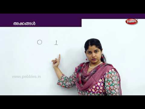 How To Write Malayalam Numbers From 1 To  9 | Learn Math For Kids | Preschool Educational Video