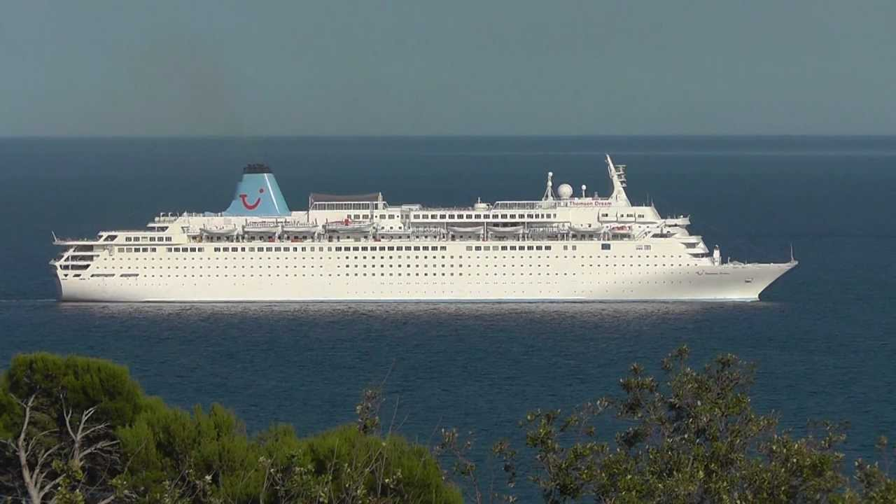 HD Departure Of The Cruise Ship MS Thomson Dream From