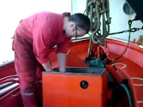 Merchant Navy: Deck Officer's Lifeboat Maintenance.wmv