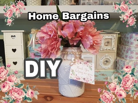 Easy DIY Vase from Home Bargains & eBay Lace / Trim Haul / teacher gift