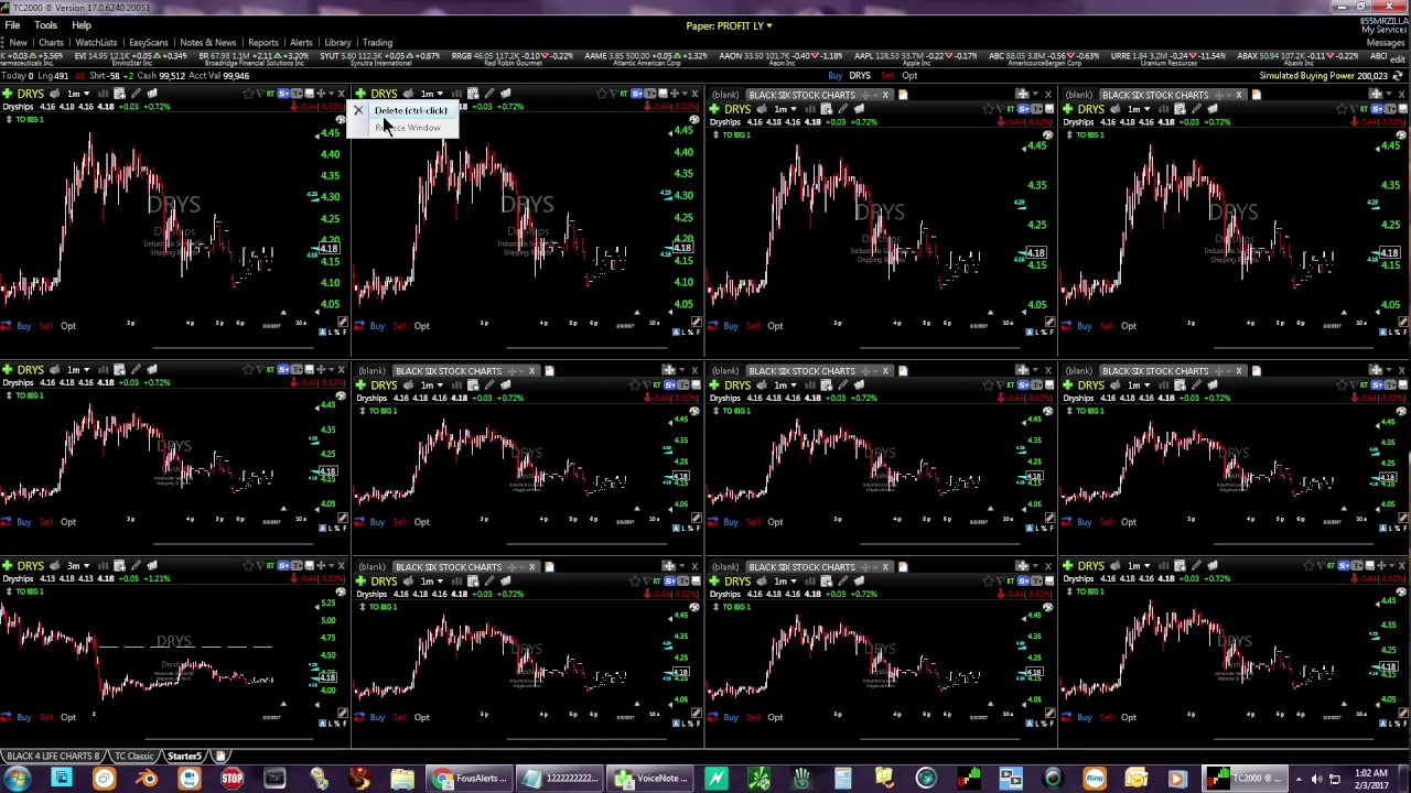 TC2000 V 17 Worden How To Setup Day Trading Layout
