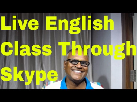 Live English Class through Skype with my Korean student!Practice English Through Skype!