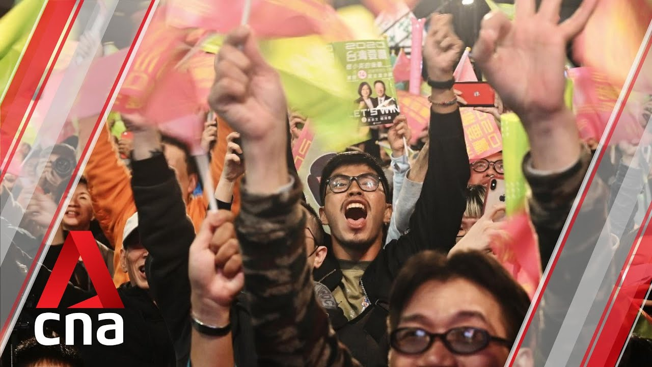 Download Supporters of President Tsai Ing-wen celebrate her Taiwan election victory